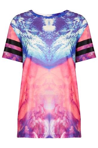 blouse zendaya topshop graphic tee