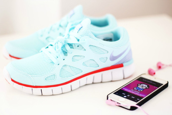 shoes nike light blue nike free nike free run free run free run awesome turquoise blue running running shoes training