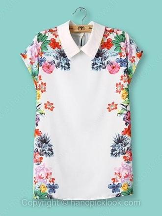clothes handpicklook flower top t-shirt shirt