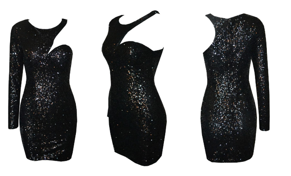 TORN SEQUIN DRESS  / Big Momma Thang