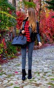 only my fashion style,blogger,jacket,blouse,bag,lumberjack,pants