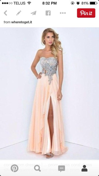 dress coral pink prom girl formal event outfit girls hbo