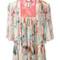 Roberto cavalli cold-shoulder floral print dress, women's, size: 38, polyamide/silk/viscose