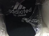 hat,addicted to jesus,cap,adidas,black,white,black and white,tumblr