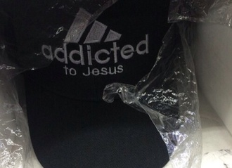 hat addicted to jesus cap adidas black white black and white tumblr