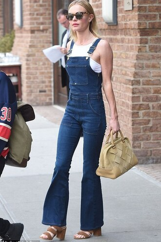 jeans overalls sandals top kate bosworth
