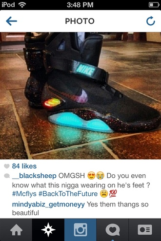 shoes black nike air nike mag back to the future