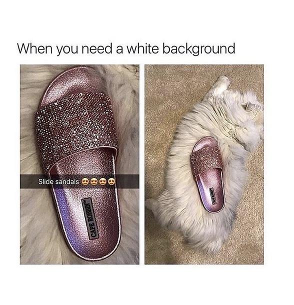 shoes rose diamanté slide shoes rose gold