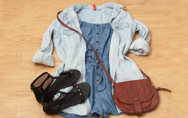 shorts denim romper summer
