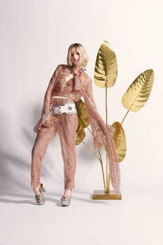 jumpsuit rodarte paris fashion week 2017 fashion week 2017 pants blouse top belt