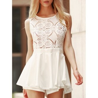 dress rose wholesale lace dress lace white white dress skater skirt cute romper girl girly girly wishlist summer