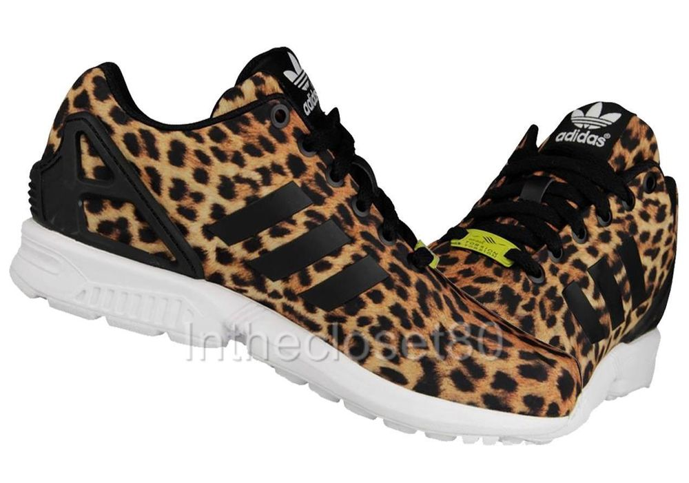 a31db63bc274d NEW ADIDAS ZX FLUX TORSION LEOPARD PRINT ANIMAL WOMENS TRAINERS ZX8000  M18768