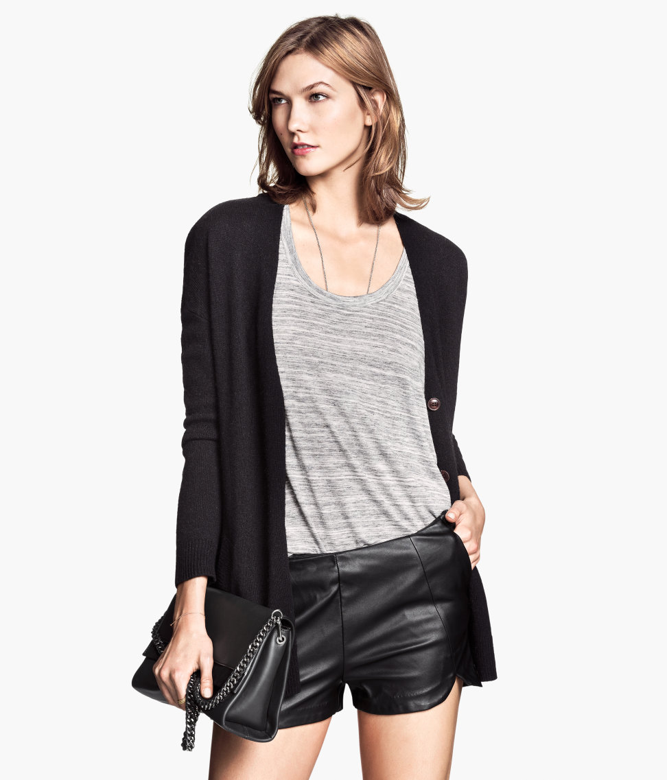 H&M Imitation Leather Shorts $29.95