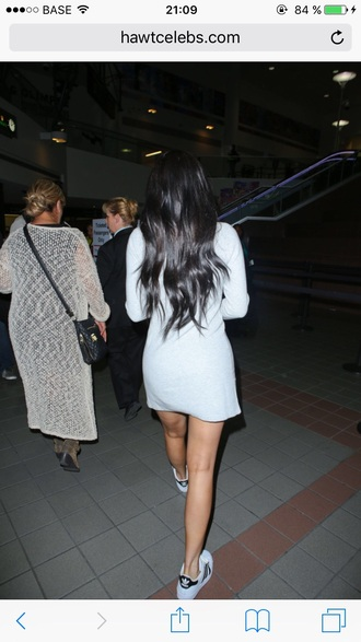 dress kylie jenner grey jersey