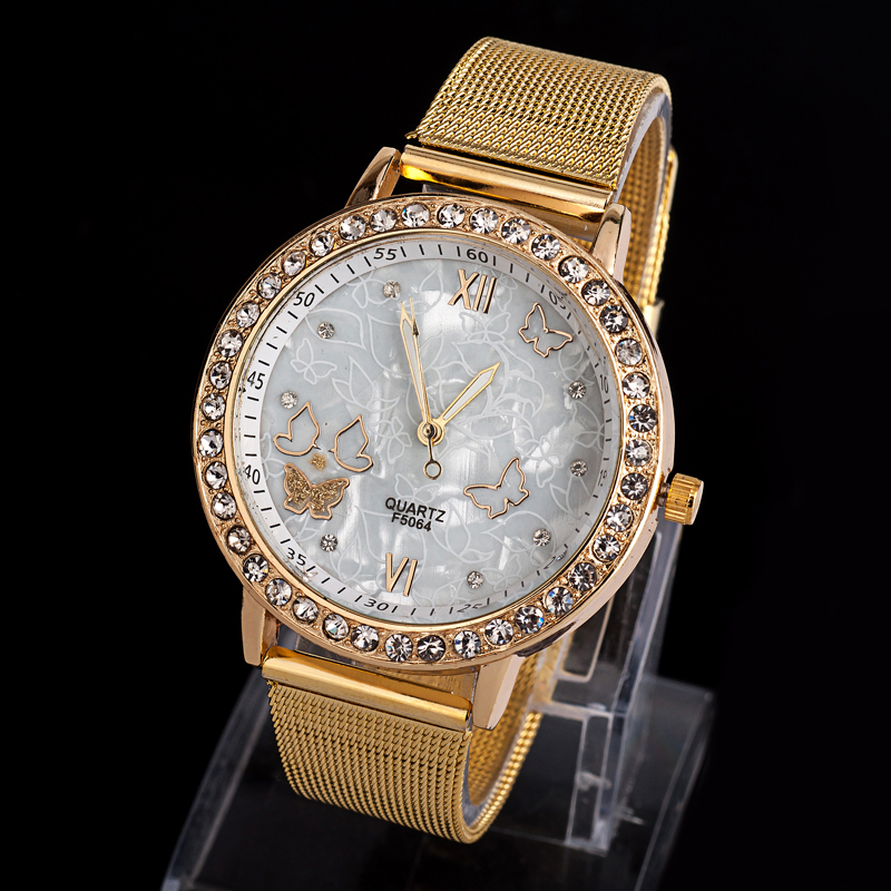2014 new Free shipping EMSX10XA07 women dress watches women rhinestone watches diamond bracelet gemstone stainless steel watches-in Wristwatches from Watches on Aliexpress.com