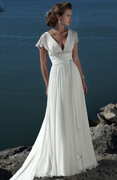 Beach Wedding Dress with Sleeves