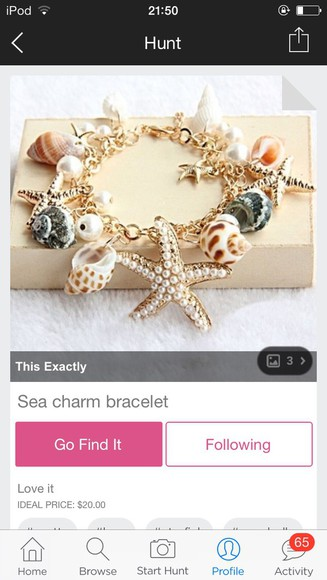 jewels charm bracelet sea charm gold seashell gold jewelry gold bracelets ocean