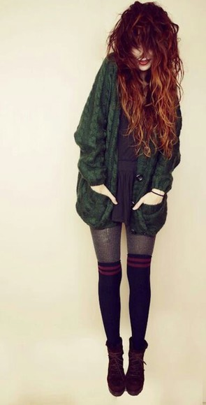 cardigan green cardigan shoes knit cardigan romper socks