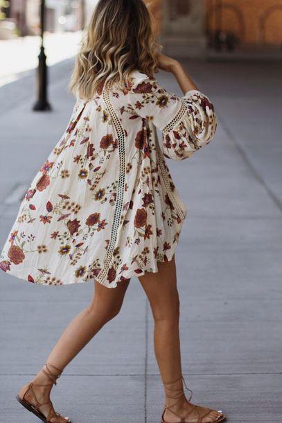 dress boho dress swing dress