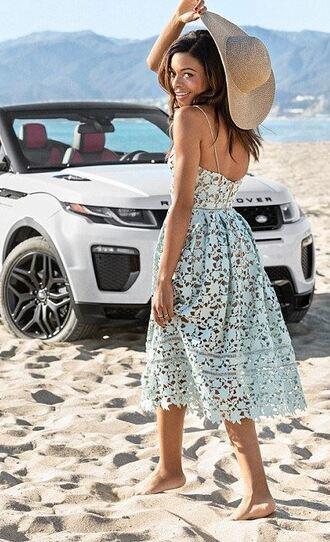 dress midi dress lace dress summer dress beach naomie harris