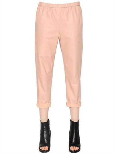 LUISAVIAROMA.COM - DROME - FINE NAPPA LEATHER PANTS