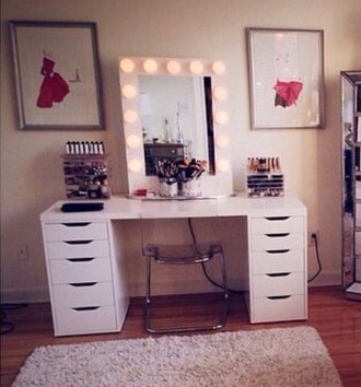 makeup table home accessory mirror makeup desk office desk
