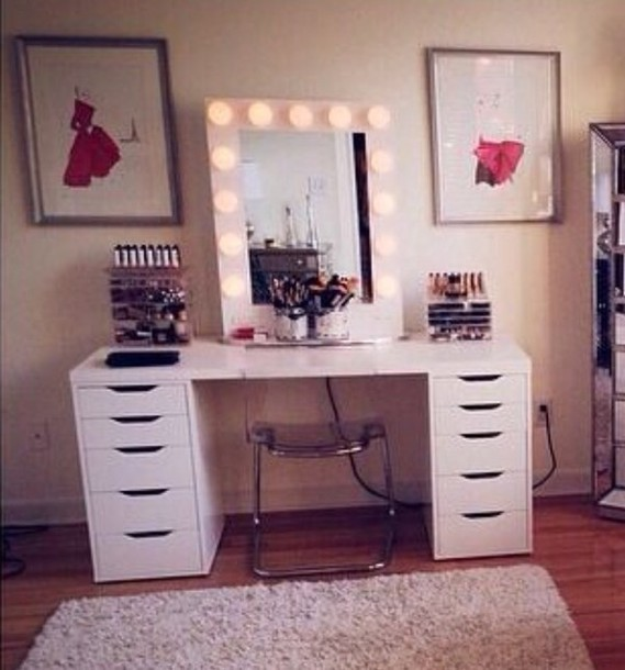 Bag Makeup Table Makeup Table Home Accessory Mirror