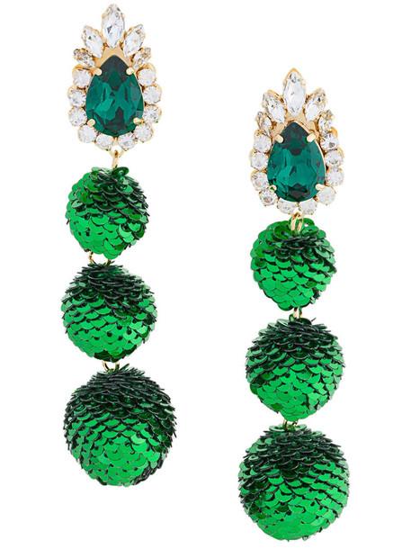 women earrings green jewels