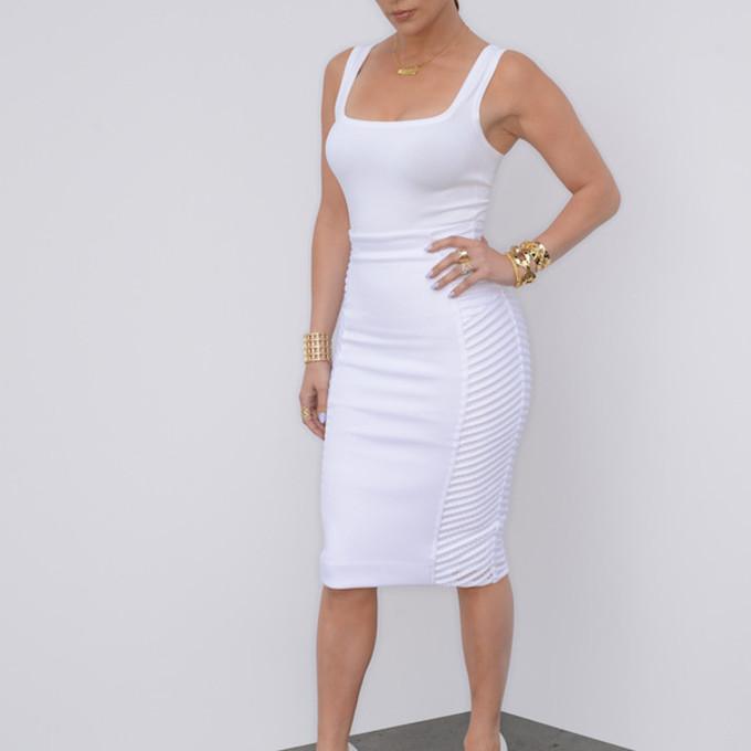 white skirt skirt pencil skirt high heels white dress