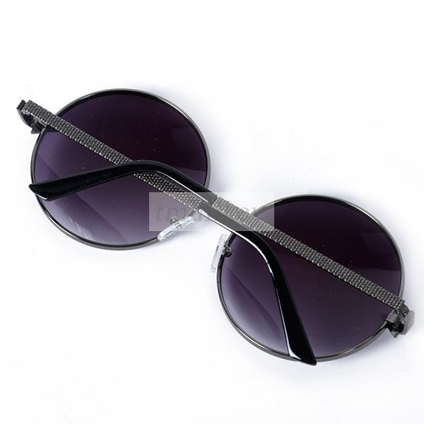 7 colors fashion womens sunglasses retro metral frame oversized round eyewear