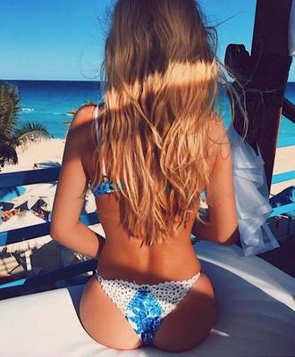 swimwear frankies bikini bikini bottoms blue white crochet macrame white macrame skimpy cheeky cheeky bottom blue dahlia