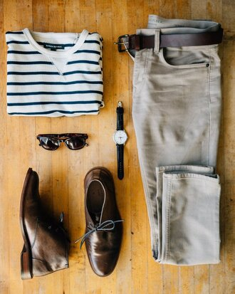 stay classic blogger shirt sweater pants shoes sunglasses belt jewels