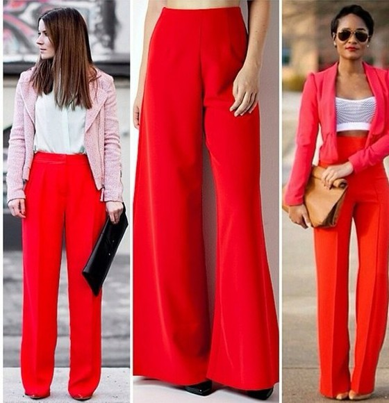 pants red pants classy red large pants elephant summer outfits classy and fabulous outfit