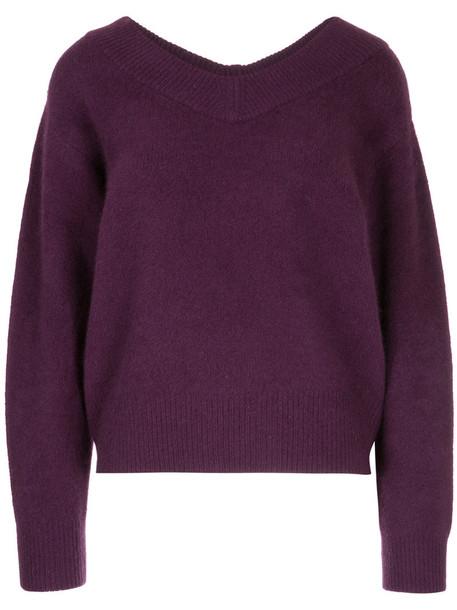 H Beauty & Youth jumper women wool purple pink sweater