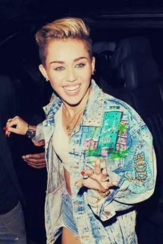 jacket miley cyrus denim jacket