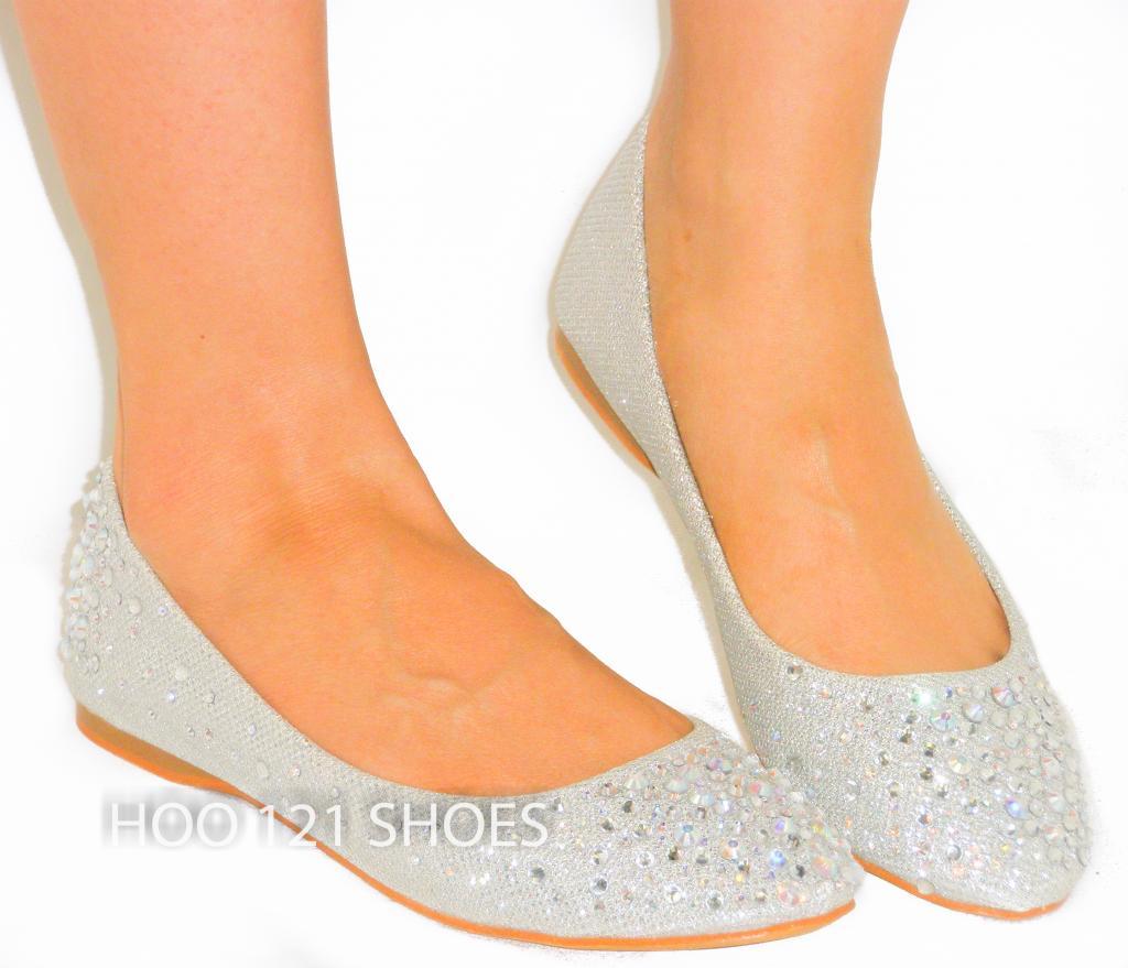 Fabulous Rhinestone Bejeweled Glitter Ballet Flats Supportive Comfy | eBay