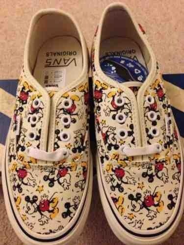 Mickey mouse disney vans vault mens size 5 0 womens 6 5