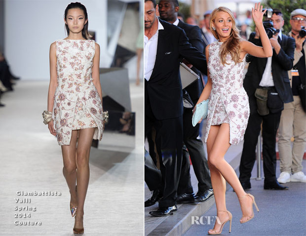 Blake lively in giambattista valli couture