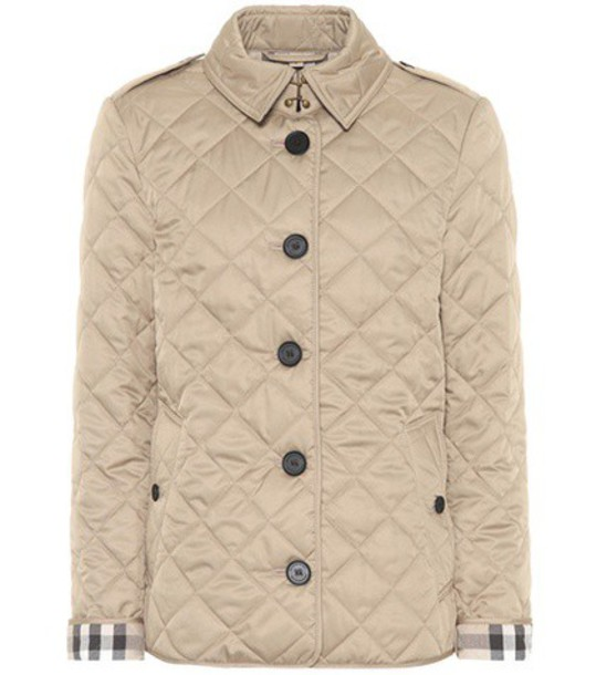 Burberry jacket quilted beige
