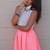 Coral Pop Skirt | StyleGodis