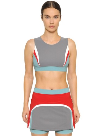 bra sports bra blue grey red underwear