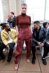 shoes,pants,top,sofia richie,fashion week,turtleneck,celebrity