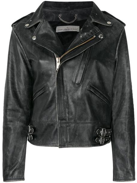 GOLDEN GOOSE DELUXE BRAND jacket women leather cotton black