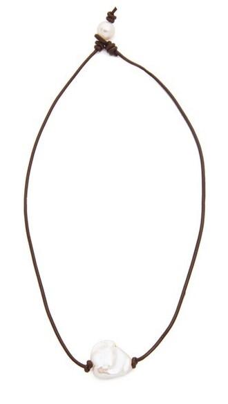 dark necklace brown jewels