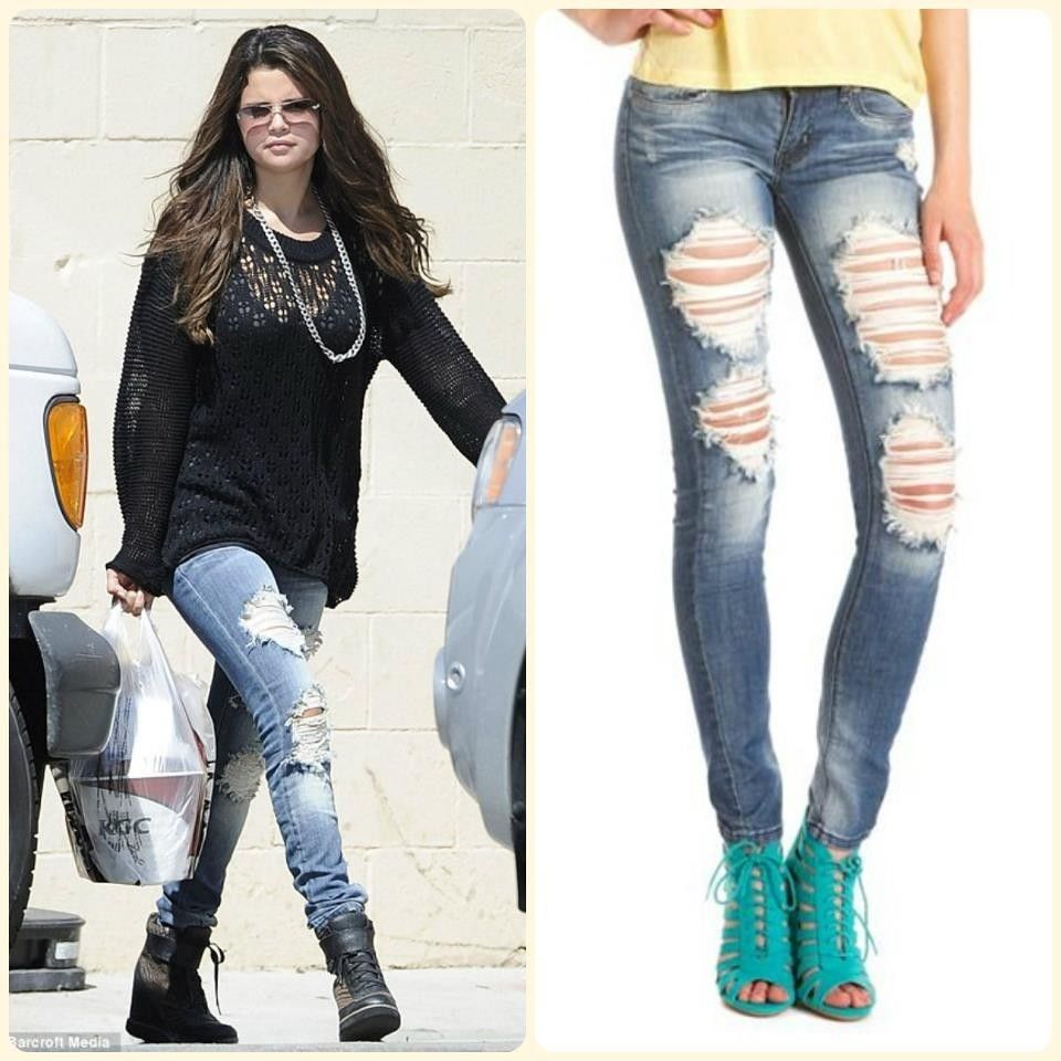 New with Tags Machine Jeans Ripped Distressed Destroyed Selena Gomez Teen Denim | eBay