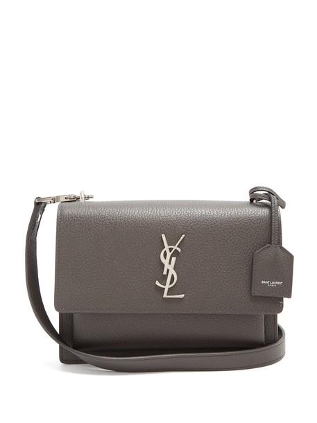 Saint Laurent cross bag leather dark grey