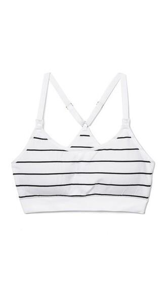 bra stripes white black underwear