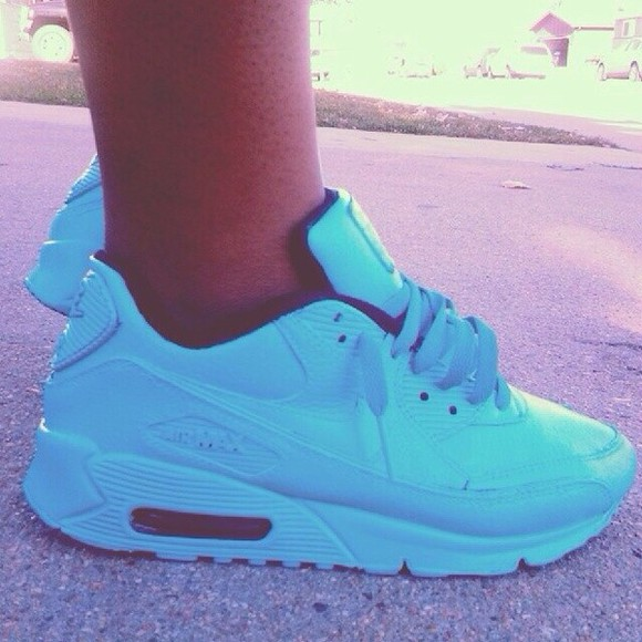 shoes baby blue nike airmax
