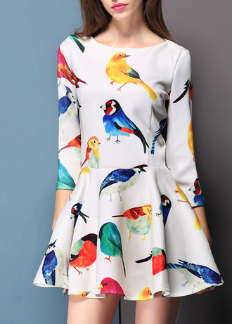dress birds bird skirt birds top cute dress clothes top skirt cute outfits
