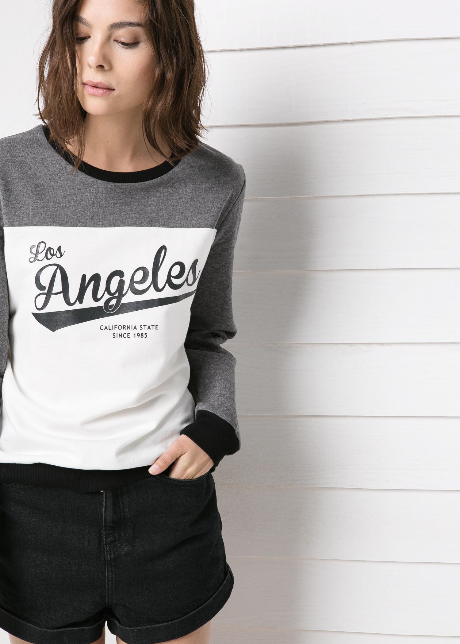 Sudadera los ángeles - Pantalones de Mujer | MANGO